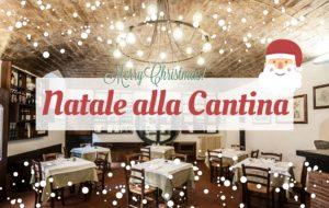 menù di Natale alla cantina